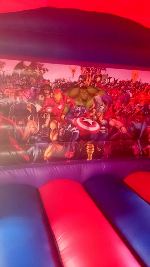 Bouncy Castle Slide Action Heroes
