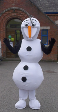 Frozen Olaf Mascot Hire in Cockermouth Cumbria