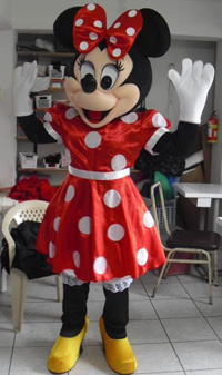 Minnie Mouse Mascot Hire in Cockermouth Cumbria